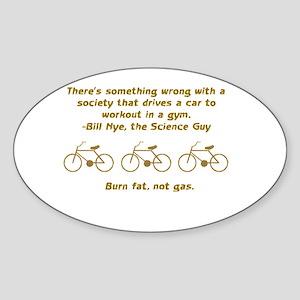 Bill Nye Oval Sticker