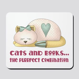 Cute Cats And Books Mousepad