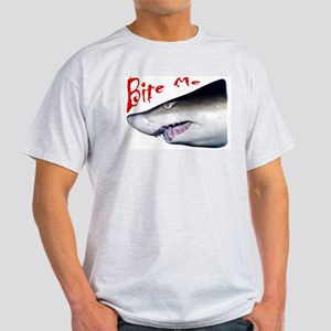 Bite Me- Shark Ash Grey T-Shirt