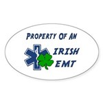 Irish EMT Property Oval Sticker (10 pk)