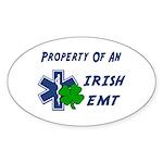 Irish EMT Property Oval Sticker (50 pk)