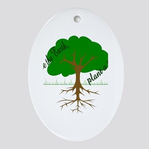 Plant a tree Oval Ornament