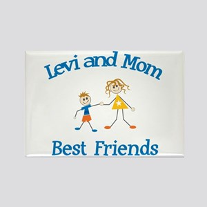 Levi and Mom - Best Friends Rectangle Magnet
