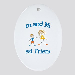 Liam and Mom - Best Friends Oval Ornament