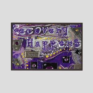 RH Pure Purple Rectangle Magnet