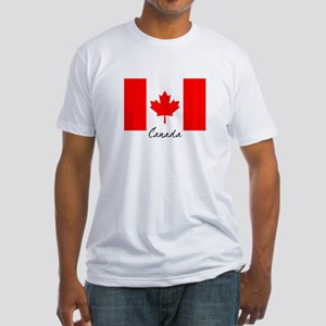 Canadian Flag Fitted T-Shirt