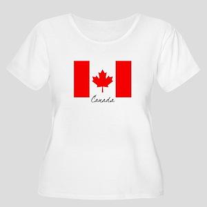 Canadian Flag Women's Plus Size Scoop Neck T-Shirt