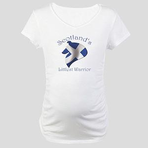 Scotland's Littlest Warrior Maternity T-Shirt
