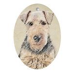 Welsh Terrier Oval Ornament