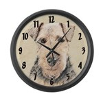 Welsh Terrier Large Wall Clock