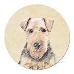 Welsh Terrier Round Car Magnet