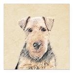 Welsh Terrier Square Car Magnet 3