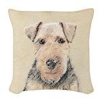 Welsh Terrier Woven Throw Pillow