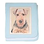 Welsh Terrier baby blanket