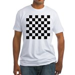 Chess Checker Board Fitted T-Shirt