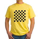 Chess Checker Board Yellow T-Shirt