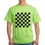 Chess Checker Board Green T-Shirt