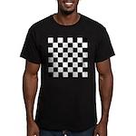 Chess Checker Board Men's Fitted T-Shirt (dark)