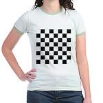 Chess Checker Board Jr. Ringer T-Shirt
