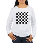 Chess Checker Board Women's Long Sleeve T-Shirt
