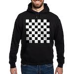 Chess Checker Board Hoodie (dark)
