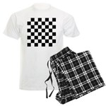 Chess Checker Board Men's Light Pajamas