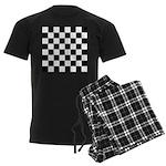 Chess Checker Board Men's Dark Pajamas