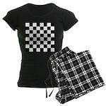 Chess Checker Board Women's Dark Pajamas