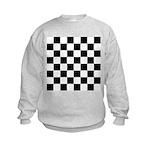 Chess Checker Board Kids Sweatshirt