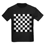 Chess Checker Board Kids Dark T-Shirt