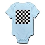 Chess Checker Board Baby Light Bodysuit