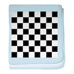 Chess Checker Board baby blanket