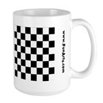 Chess Checker Board 15 oz Ceramic Large Mug