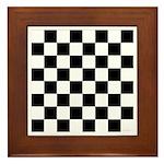 Chess Checker Board Framed Tile