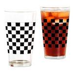 Chess Checker Board Drinking Glass