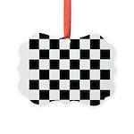 Chess Checker Board Picture Ornament