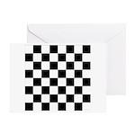 Chess Checker Board Greeting Card