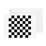 Chess Checker Board Greeting Cards (Pk of 10)