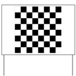 Chess Checker Board Yard Sign