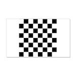 Chess Checker Board 20x12 Wall Decal