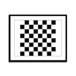 Chess Checker Board Framed Panel Print