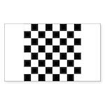 Chess Checker Board Sticker (Rectangle 10 pk)