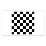 Chess Checker Board Sticker (Rectangle 50 pk)