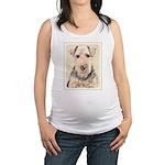 Welsh Terrier Maternity Tank Top
