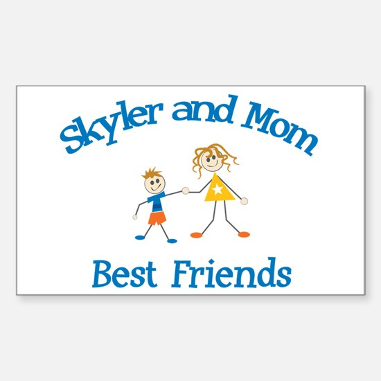 Skyler and Mom - Best Friends Rectangle Decal