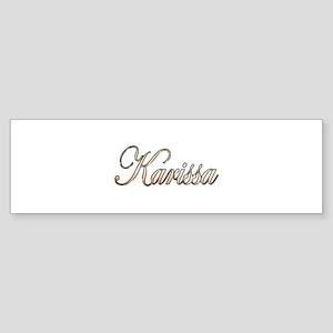 Gold Karissa Bumper Sticker