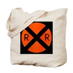 RR Crossing Sign Tote Bag
