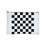 Chess Checker Board Makeup Bag
