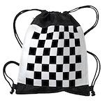 Chess Checker Board Drawstring Bag