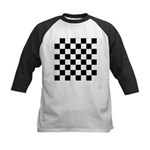 Chess Checker Board Kids Baseball Tee